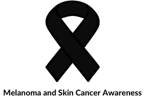 Melanoma and skin cancer awareness ribbon